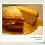 深藍咖啡館的千層薄餅蛋糕@台南市