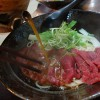 (20131019食記) 牧場直營的御牧牛刺身牛肉麵。鈜景國產肉品專賣店@台北